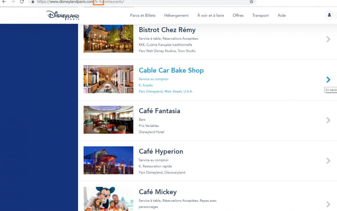 Réserver votre restaurant à Disneyland Paris en ligne : l'astuce !