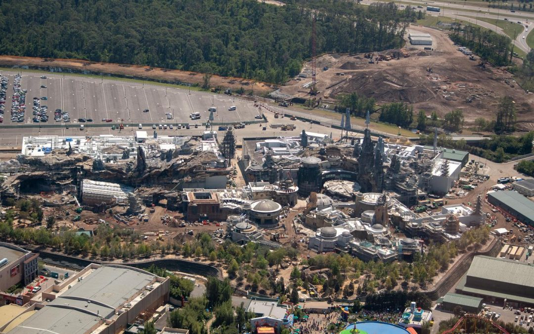 Star Wars Galaxy Edge : les photos de la construction